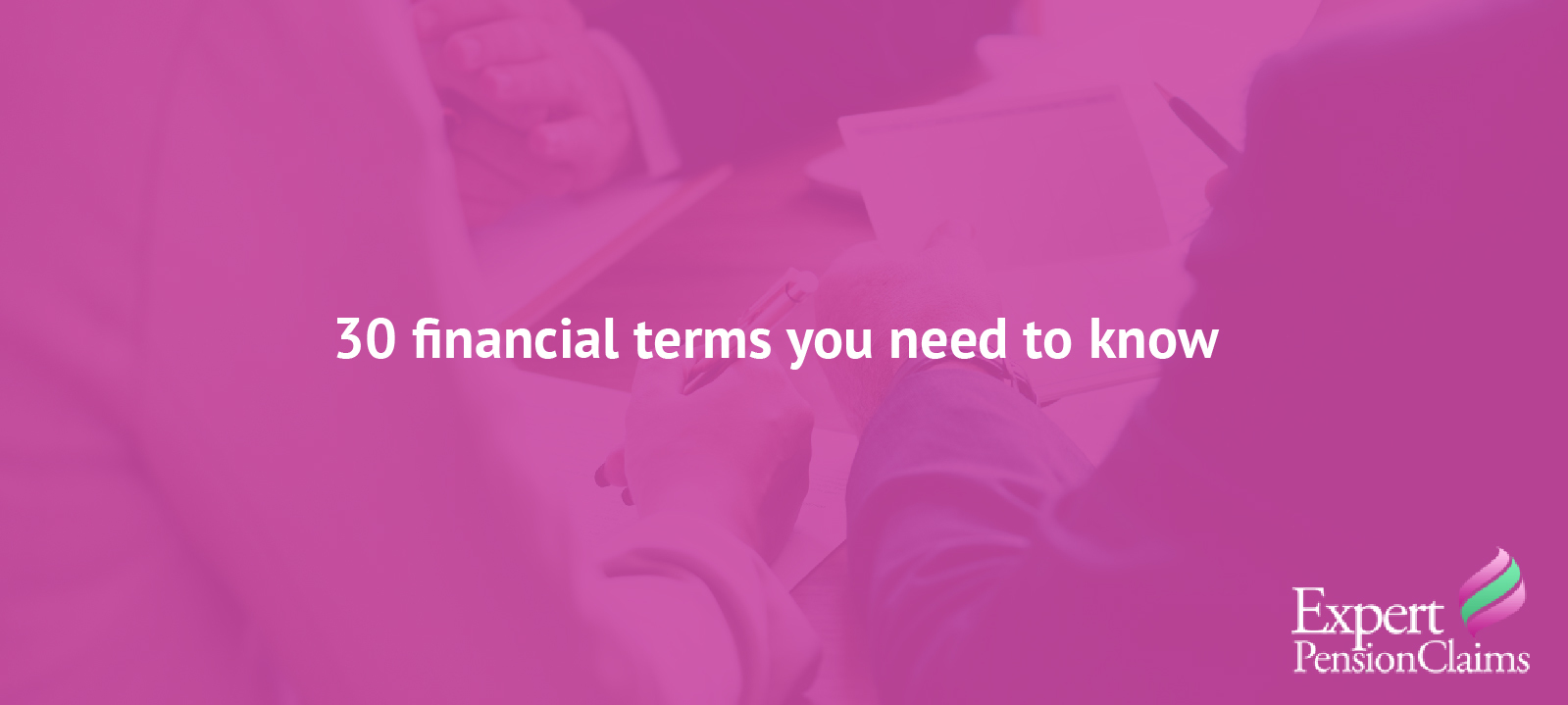 30 financial terms you need to know