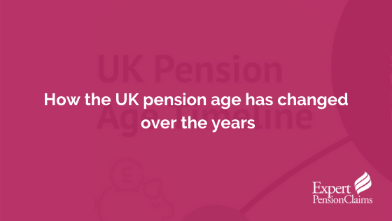 How the UK pension age has changed over the years